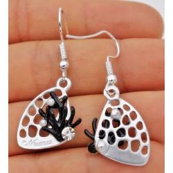 Boucle d'oreilles corail