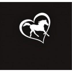 Sticker cheval dans un...