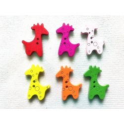 boutons girafe scrapbooking