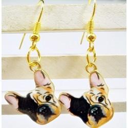 Boucles d'oreilles bulldog