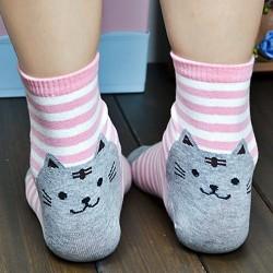 Chaussettes tête de chat
