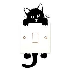 "Sticker ""chat qui joue"""